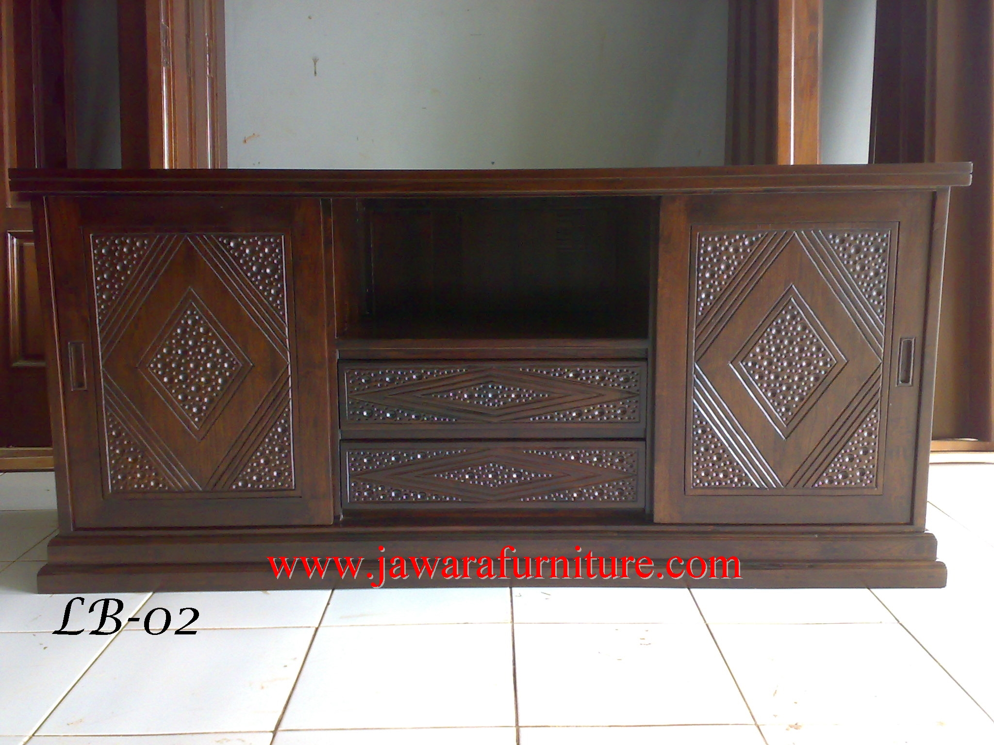Bufet Jati Minimalis Ruang Tamu Jawara Furniture # Meuble Tv Luna